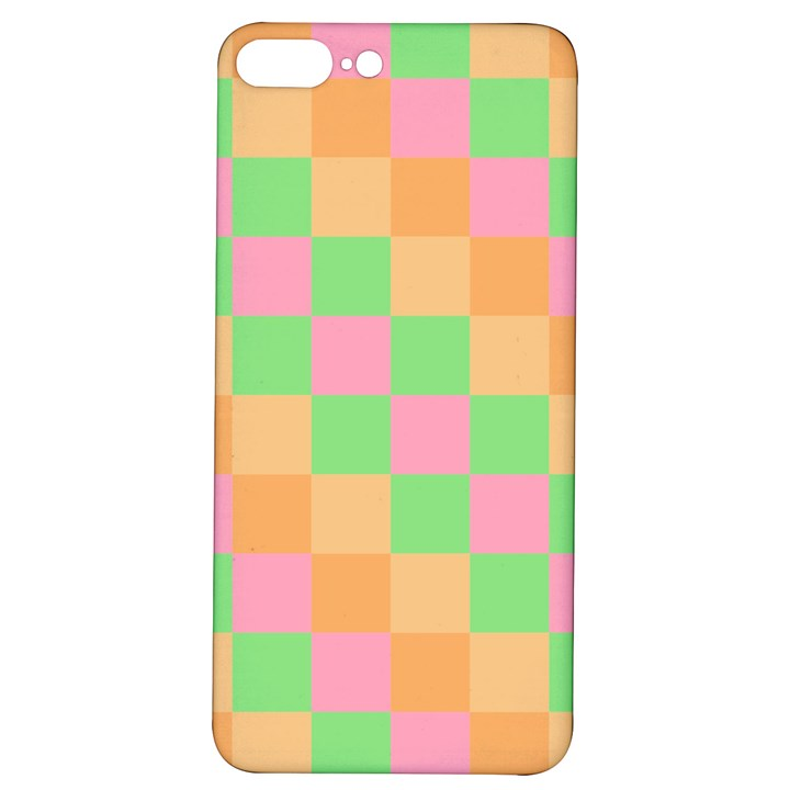 Checkerboard Pastel Squares iPhone 7/8 Plus Soft Bumper UV Case