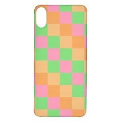 Checkerboard Pastel Squares Iphone X/xs Soft Bumper Uv Case