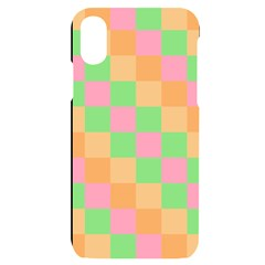 Checkerboard Pastel Squares Iphone X/xs Black Uv Print Case