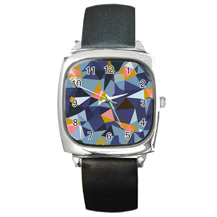 33sahara392 Square Metal Watch