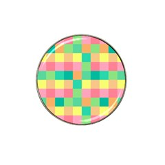 Checkerboard Pastel Squares Hat Clip Ball Marker