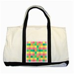 Checkerboard Pastel Squares Two Tone Tote Bag Front