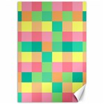 Checkerboard Pastel Squares Canvas 12  x 18  18 x12  Canvas - 1