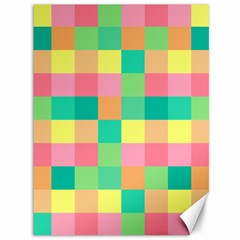 Checkerboard Pastel Squares Canvas 36  X 48  by Sapixe
