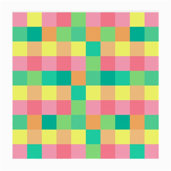 Checkerboard Pastel Squares Medium Glasses Cloth