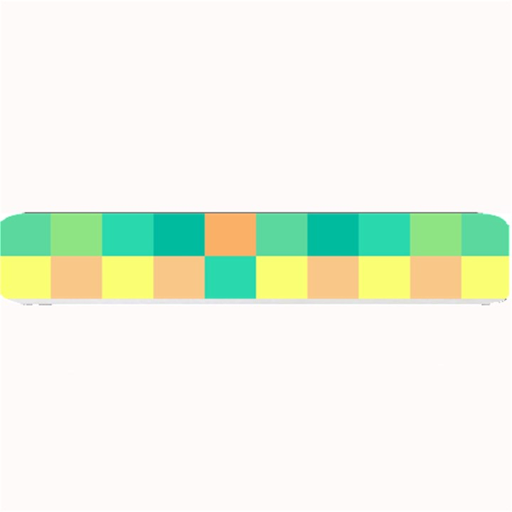 Checkerboard Pastel Squares Small Bar Mats