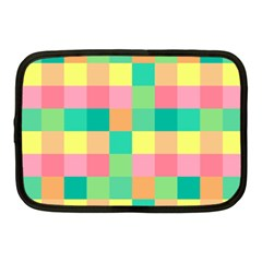 Checkerboard Pastel Squares Netbook Case (medium) by Sapixe