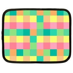 Checkerboard Pastel Squares Netbook Case (large) by Sapixe