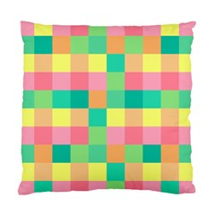 Checkerboard Pastel Squares Standard Cushion Case (two Sides)