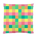 Checkerboard Pastel Squares Standard Cushion Case (Two Sides) Back