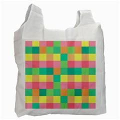 Checkerboard Pastel Squares Recycle Bag (one Side)