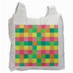 Checkerboard Pastel Squares Recycle Bag (One Side) Front