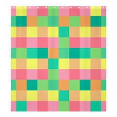 Checkerboard Pastel Squares Shower Curtain 66  X 72  (large)