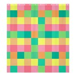 Checkerboard Pastel Squares Shower Curtain 66  x 72  (Large)  58.75 x64.8  Curtain
