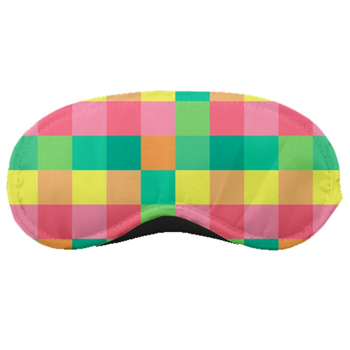 Checkerboard Pastel Squares Sleeping Mask