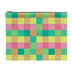 Checkerboard Pastel Squares Cosmetic Bag (xl) by Sapixe