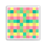 Checkerboard Pastel Squares Memory Card Reader (Square) Front