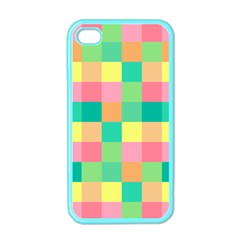 Checkerboard Pastel Squares Iphone 4 Case (color) by Sapixe