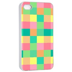 Checkerboard Pastel Squares Iphone 4/4s Seamless Case (white)