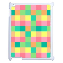 Checkerboard Pastel Squares Apple Ipad 2 Case (white)
