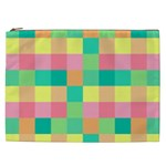 Checkerboard Pastel Squares Cosmetic Bag (XXL) Front