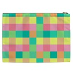 Checkerboard Pastel Squares Cosmetic Bag (XXL) Back