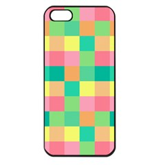 Checkerboard Pastel Squares Iphone 5 Seamless Case (black) by Sapixe