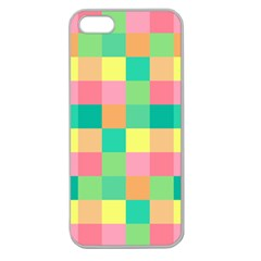 Checkerboard Pastel Squares Apple Seamless Iphone 5 Case (clear) by Sapixe