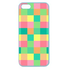 Checkerboard Pastel Squares Apple Seamless Iphone 5 Case (color) by Sapixe