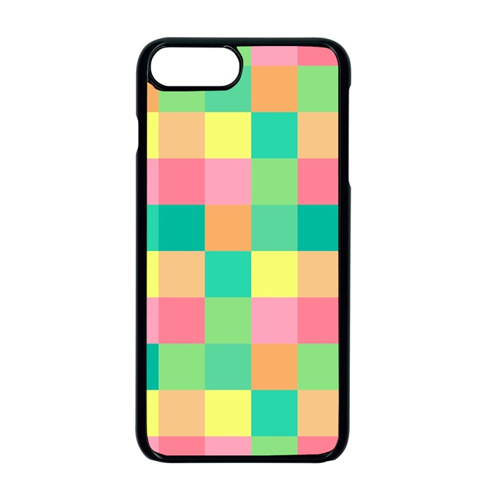 Checkerboard Pastel Squares iPhone 7 Plus Seamless Case (Black)