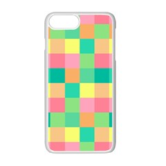 Checkerboard Pastel Squares Iphone 7 Plus Seamless Case (white) by Sapixe
