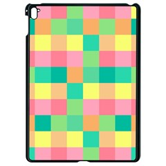 Checkerboard Pastel Squares Apple Ipad Pro 9 7   Black Seamless Case by Sapixe