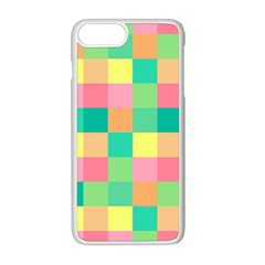 Checkerboard Pastel Squares Iphone 8 Plus Seamless Case (white) by Sapixe