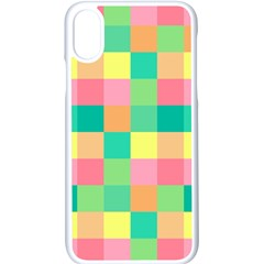 Checkerboard Pastel Squares Iphone X Seamless Case (white)