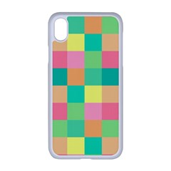 Checkerboard Pastel Squares Iphone Xr Seamless Case (white) by Sapixe