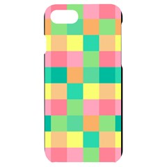 Checkerboard Pastel Squares Iphone 7/8 Black Uv Print Case