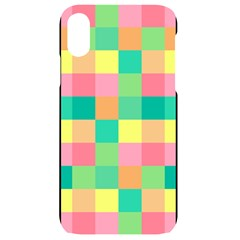 Checkerboard Pastel Squares Iphone Xr Black Uv Print Case