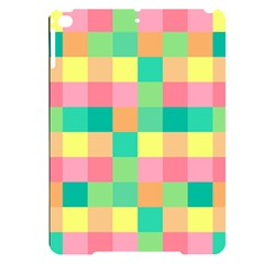 Checkerboard Pastel Squares Apple Ipad Pro 9 7   Black Uv Print Case