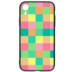 Checkerboard Pastel Squares Iphone Xr Soft Bumper Uv Case