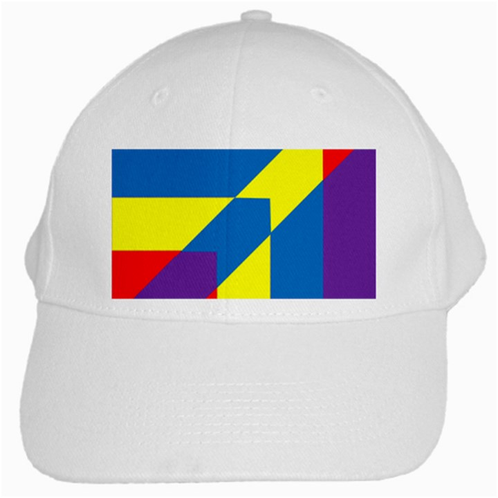 Colorful Red Yellow Blue Purple White Cap