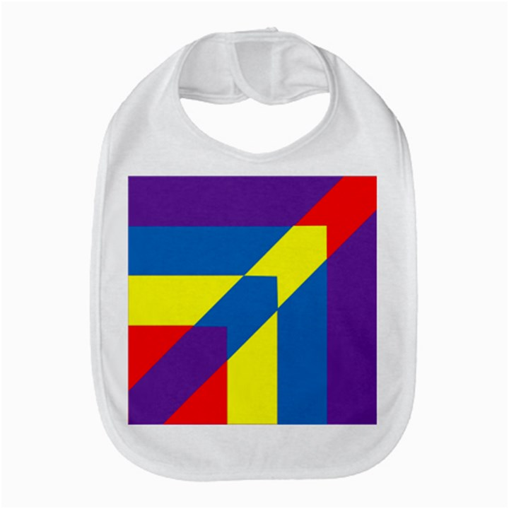 Colorful Red Yellow Blue Purple Bib