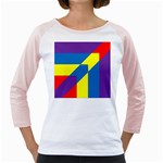 Colorful Red Yellow Blue Purple Girly Raglan Front