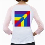 Colorful Red Yellow Blue Purple Girly Raglan Back