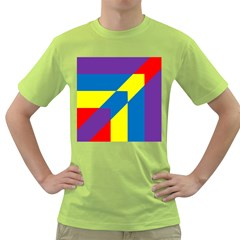 Colorful Red Yellow Blue Purple Green T Shirt