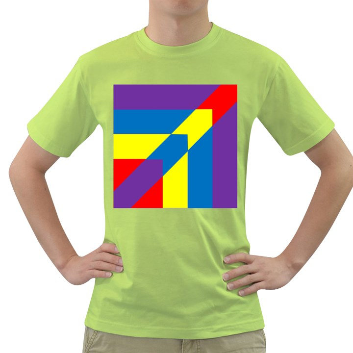 Colorful Red Yellow Blue Purple Green T-Shirt