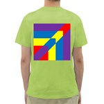 Colorful Red Yellow Blue Purple Green T-Shirt Back