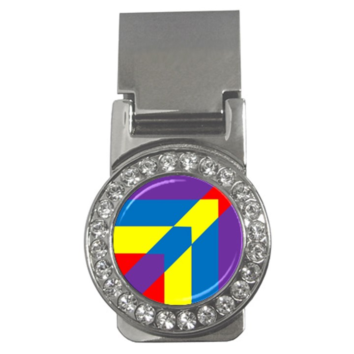 Colorful Red Yellow Blue Purple Money Clips (CZ)