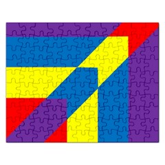 Colorful Red Yellow Blue Purple Rectangular Jigsaw Puzzl