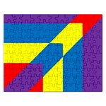 Colorful Red Yellow Blue Purple Rectangular Jigsaw Puzzl Front