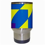 Colorful Red Yellow Blue Purple Travel Mugs (White) Center